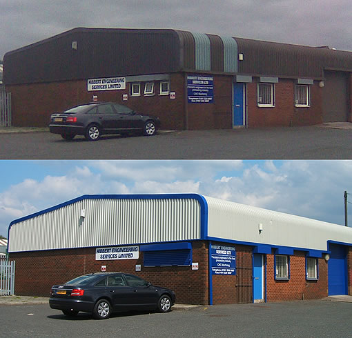 commercial units cladding coating before after