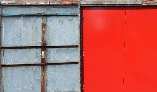 door paint repair before after