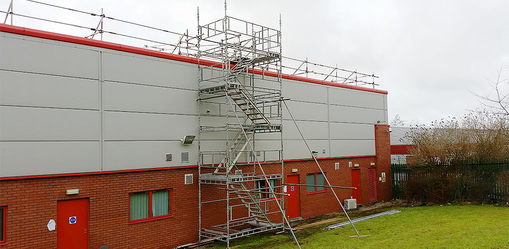 scaffolding high access stairs