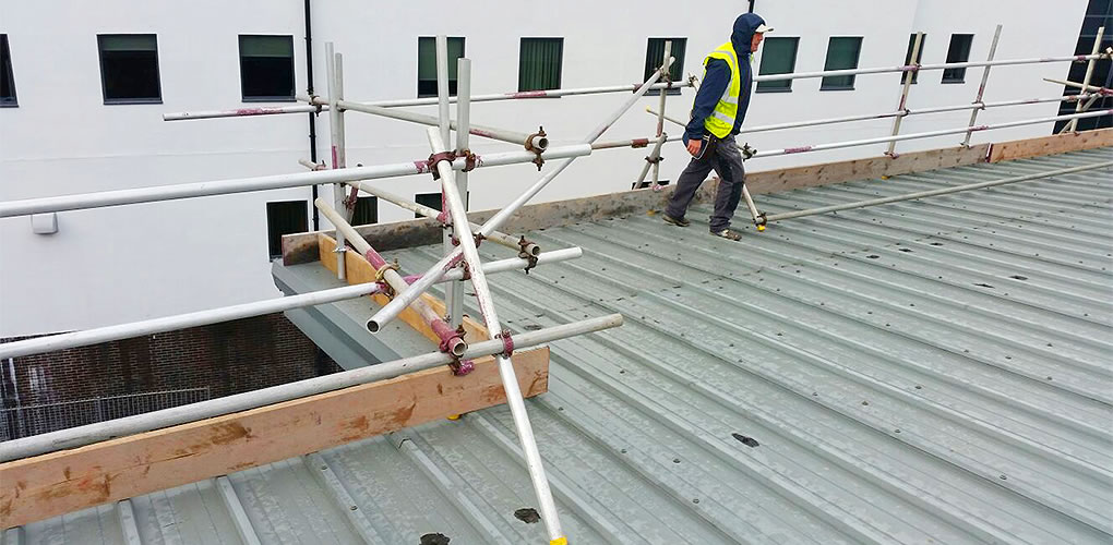 scaffold edge protection safety corner section