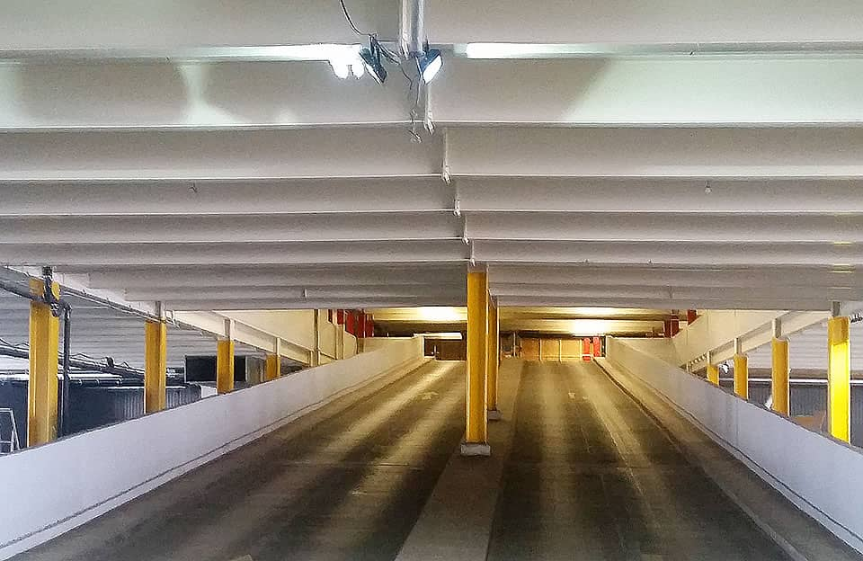 intumescent fire protection coating multistorey car park