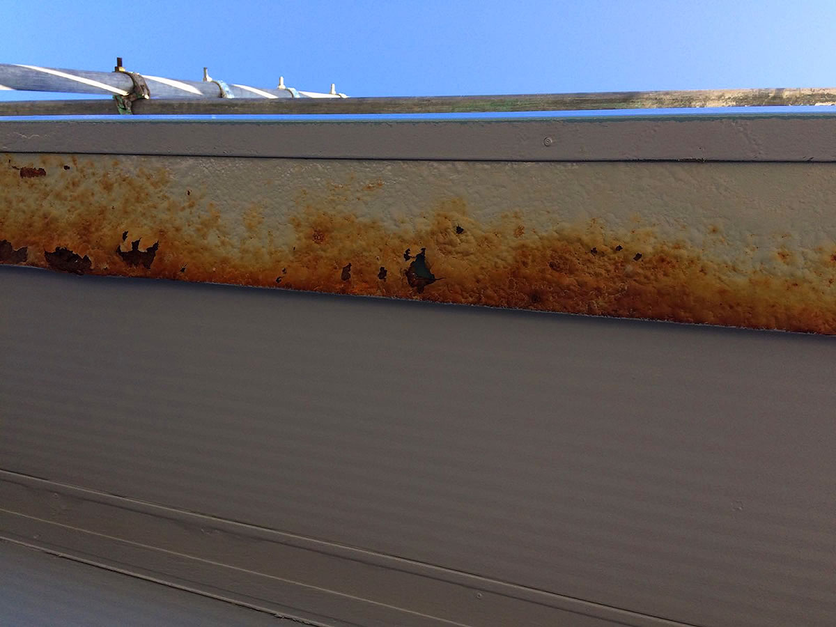 roof trims prior replacement re-coating