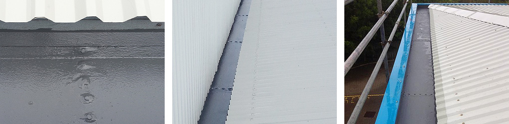 gutter lining examples steel roof