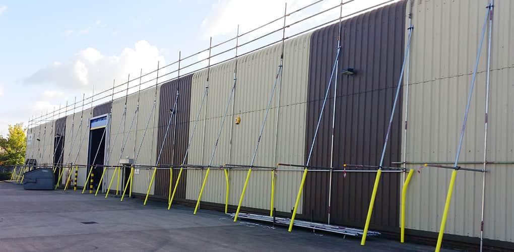 safety fence scaffolding system