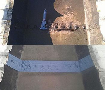 gutter joint treatment before after enfield