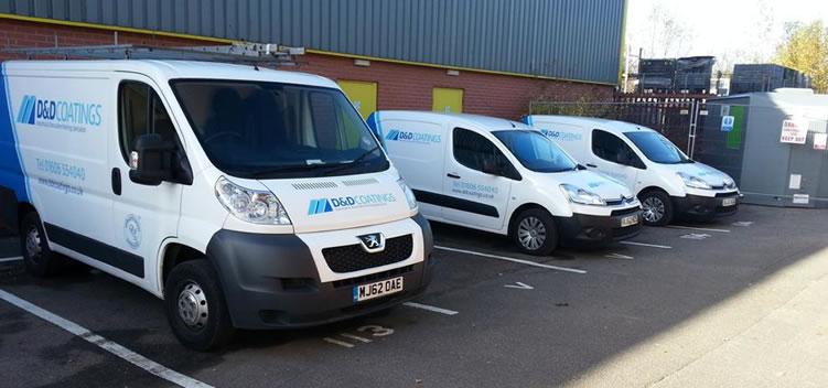 d & d coatings vans on site nottinghamshire