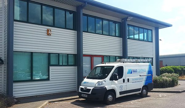 D&D Coatings van completed work