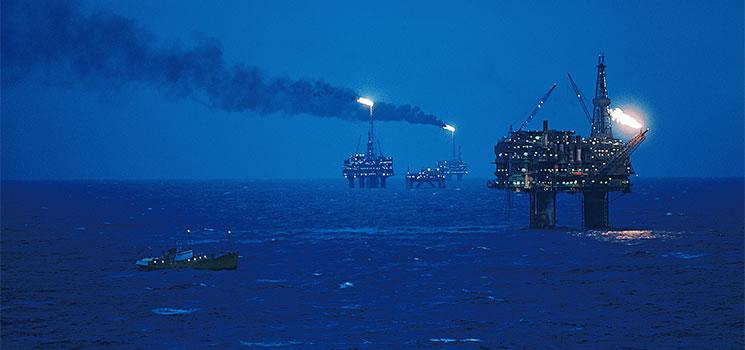 brent oilfield production rigs scotland