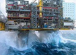 gas platform large waves