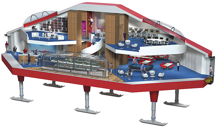 halley vi research station cross section