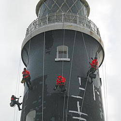 lighthouse protective coating application