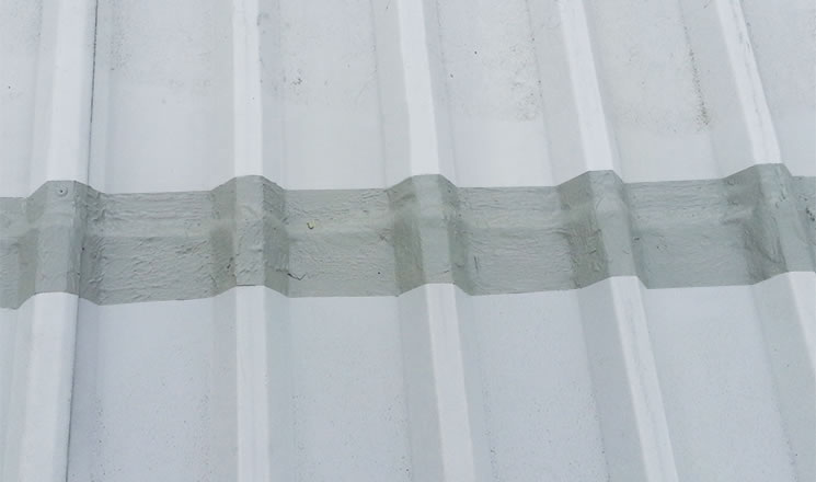 roof sheet cut edge corrosion treated section