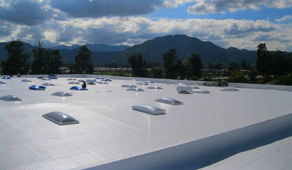white industrial roof