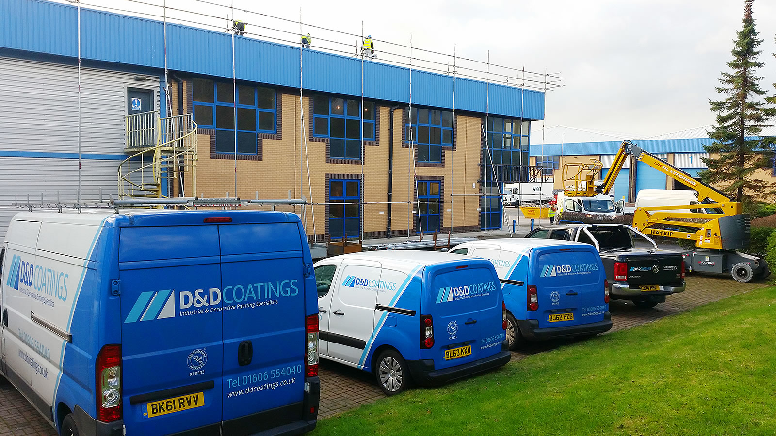 dd coatings vans on site