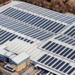 rooftop solar array lyreco telford
