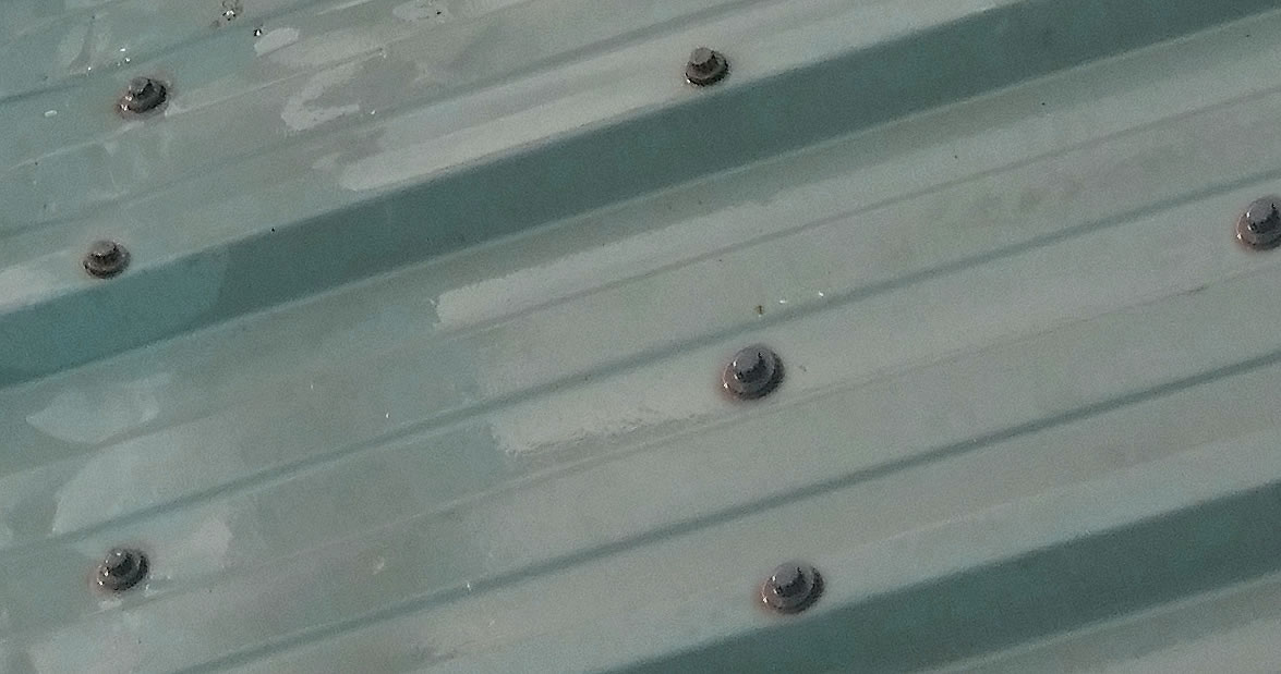 early stage roof fixings failure