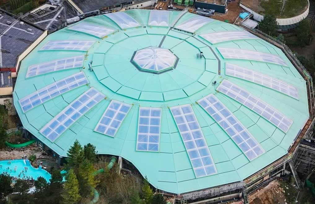 center parcs longleat new roof complete
