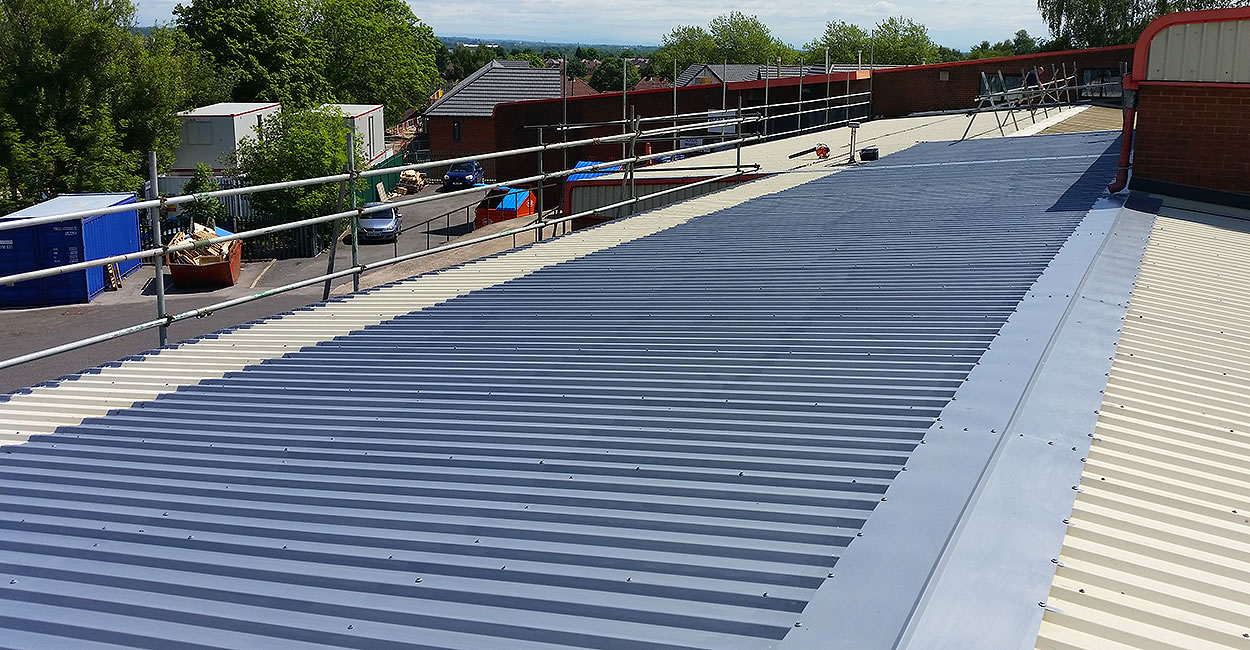 giromax delcote half roof overpaint steel sheets business centre