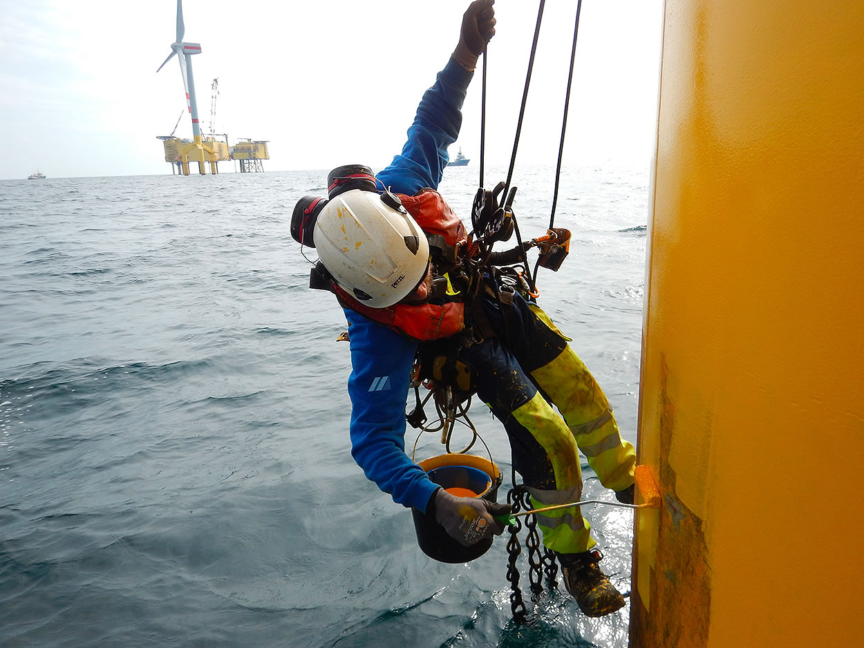 protective coating application wind turbine offshore