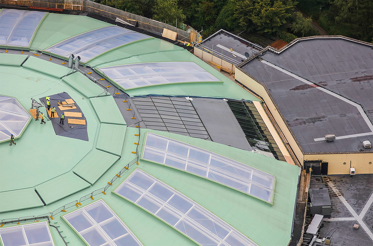subtropical simming paradise longleat forest roof coating refurbishment