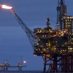 north sea rig corroded