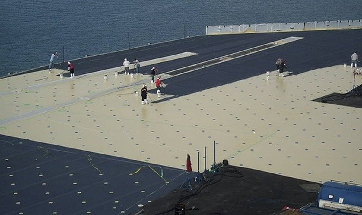 Hi Tech Deck Coating For Hms Queen Elizabeth Aircraft Carrier