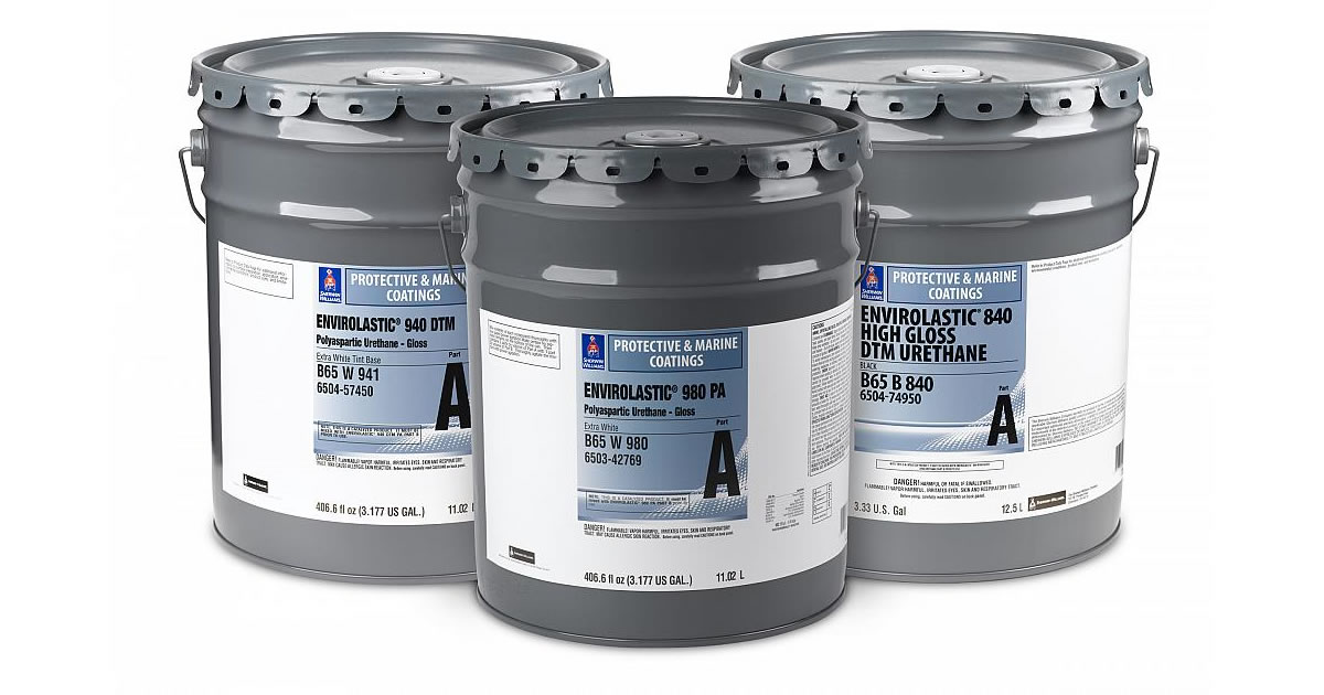 protective coatings envirolastic polyaspartic urethane drums