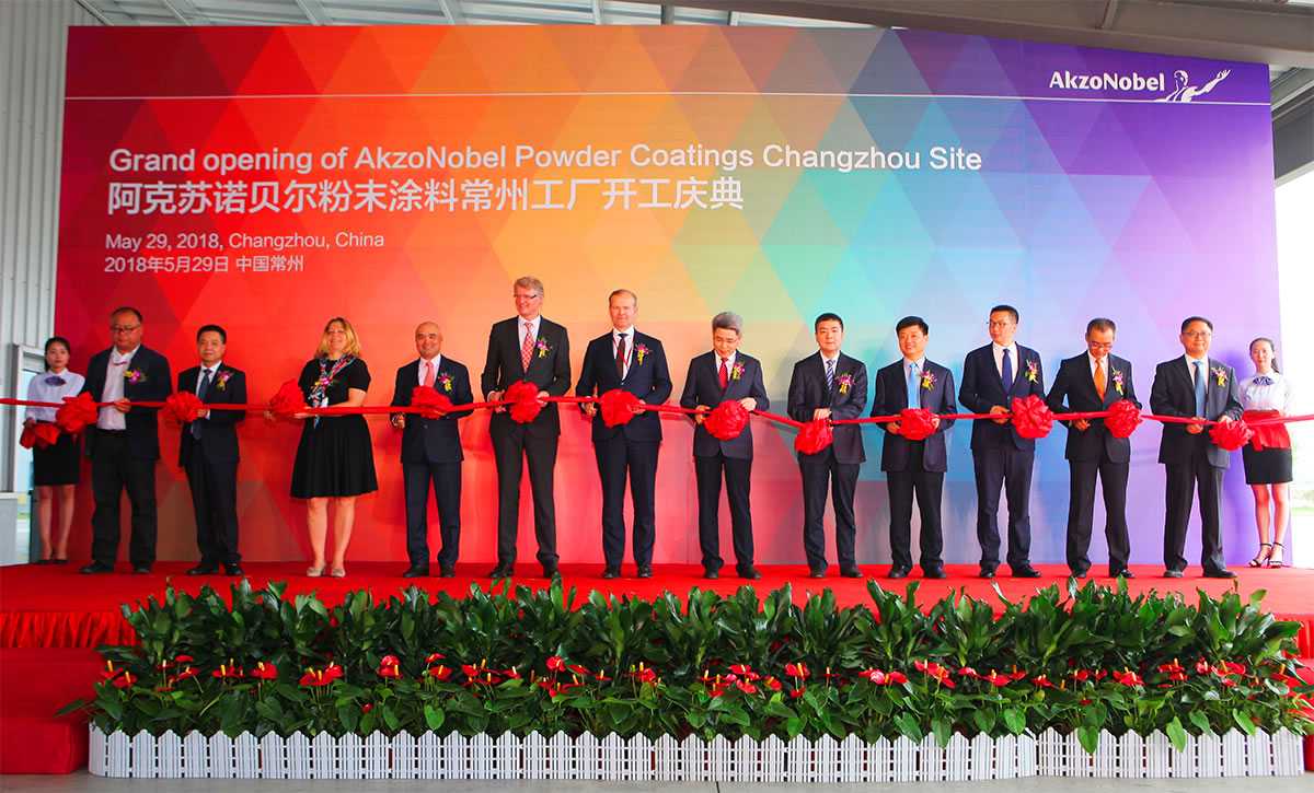 akzoNobel opens new powder coatings plant changzhou china