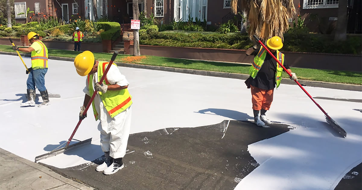 coating streets white fb