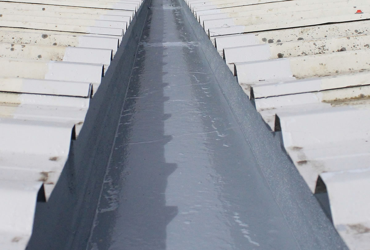gutter treated rooflock