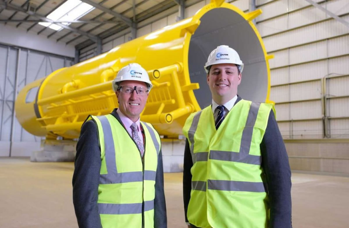 bill scott wilton ceo ben houchen tees valley mayor inside new facility