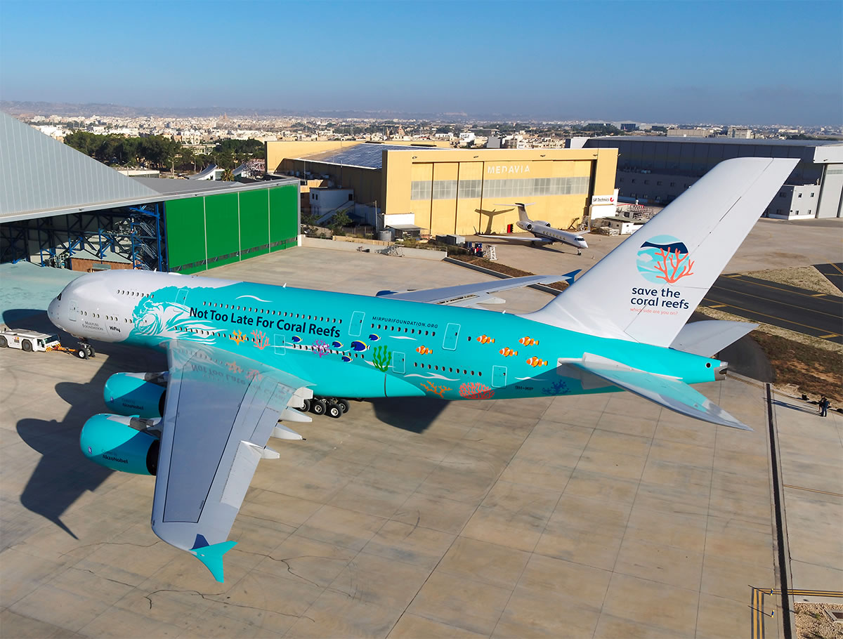 a380 coated by akzonobel save coral reef