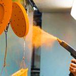 powder coatings electrostatic gun spraying