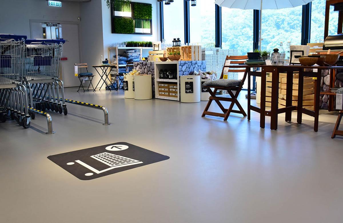 flowcrete store flooring