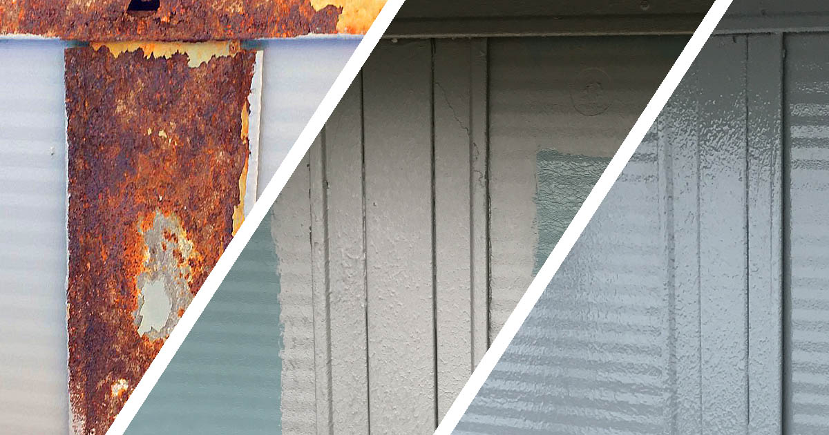 cladding repair before during after