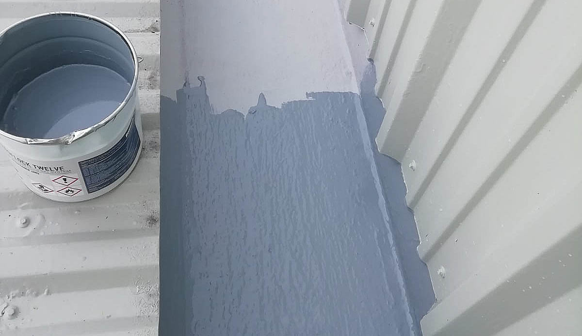 second coating paint gutter lining