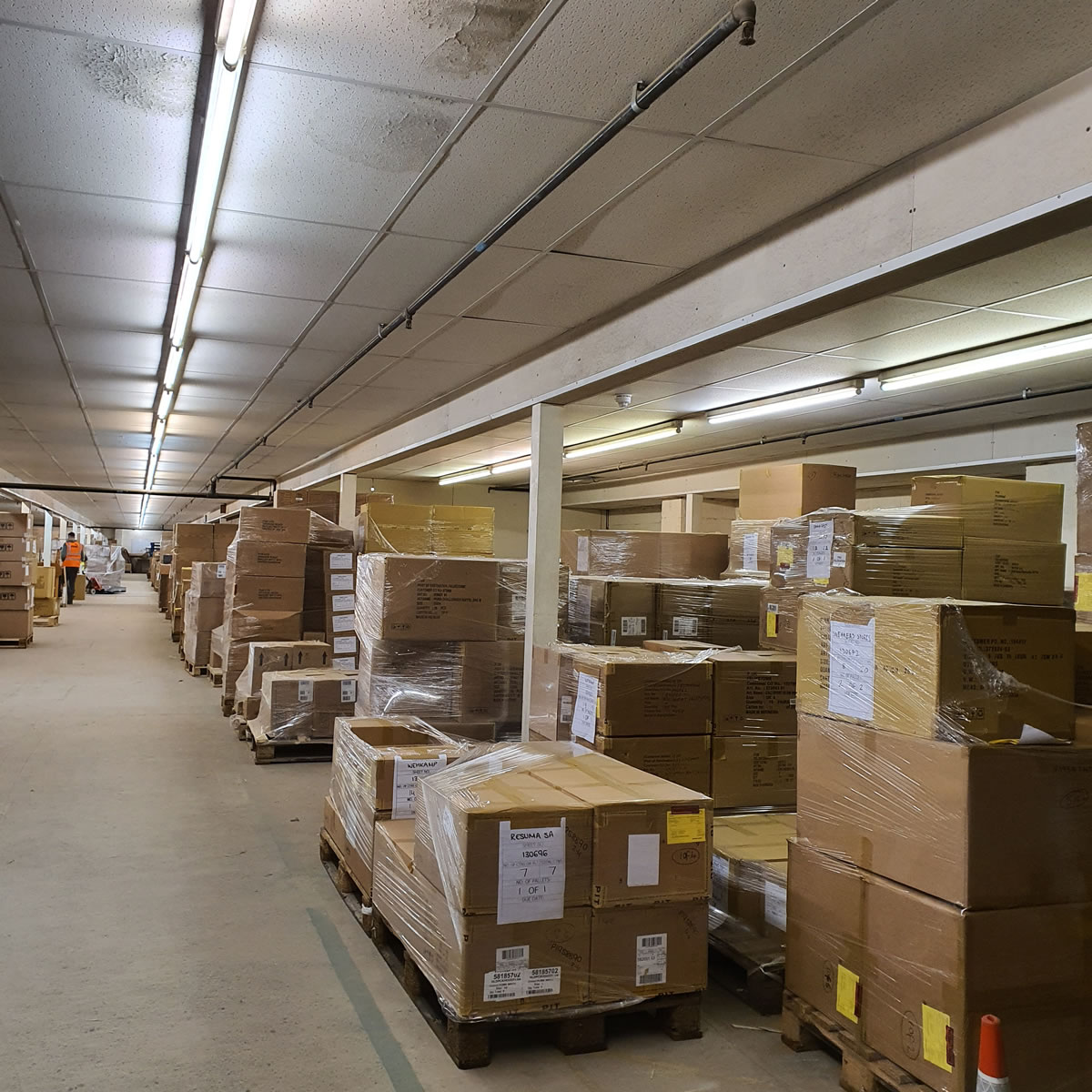 internal warehouse redecoration work sports warehouse west yorkshire