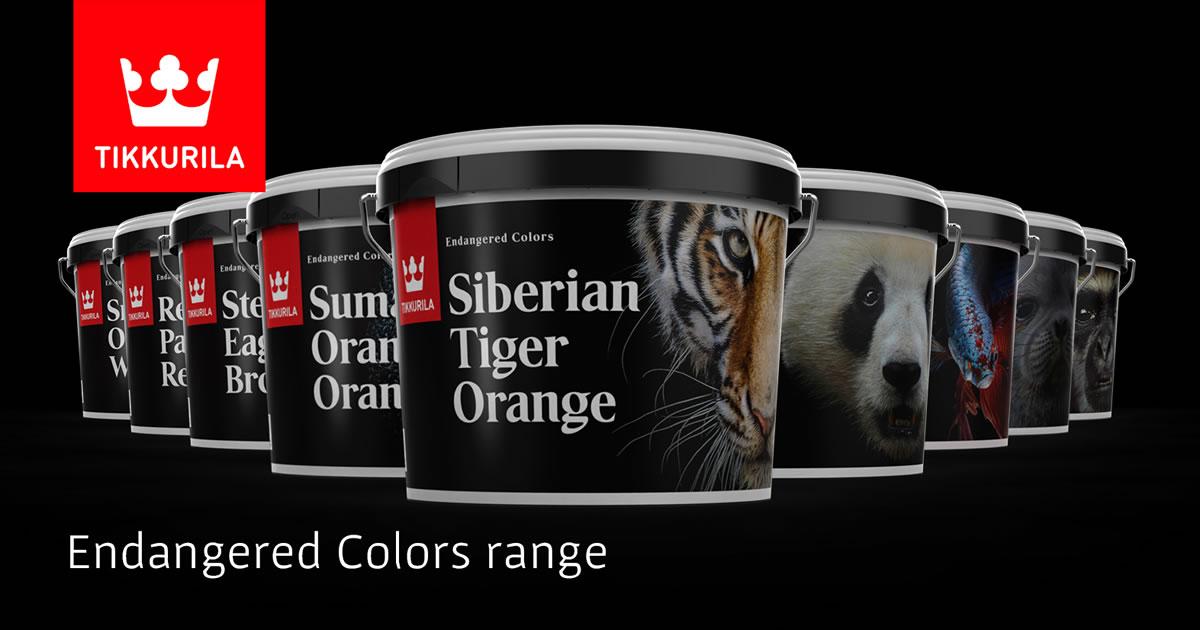 tikkurila engangered colors paint range
