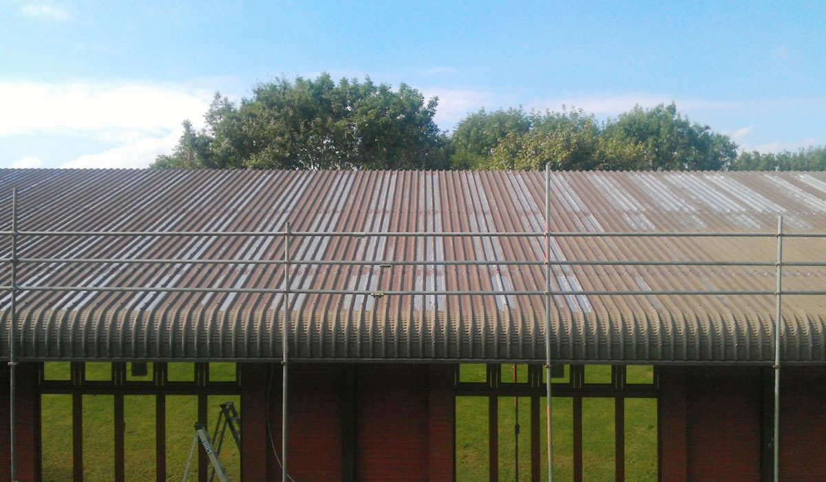 steel cladding faded corroded
