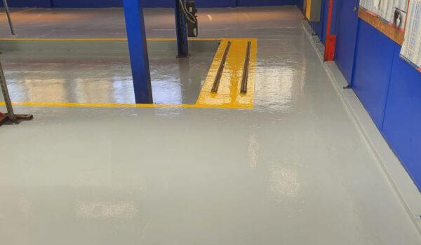 concrete floor safety lines
