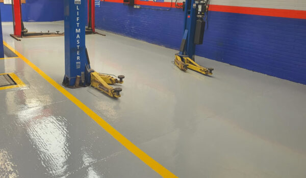 concrete floor safety paint lines
