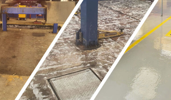 Concrete Floor Painting for National Tyre Centre