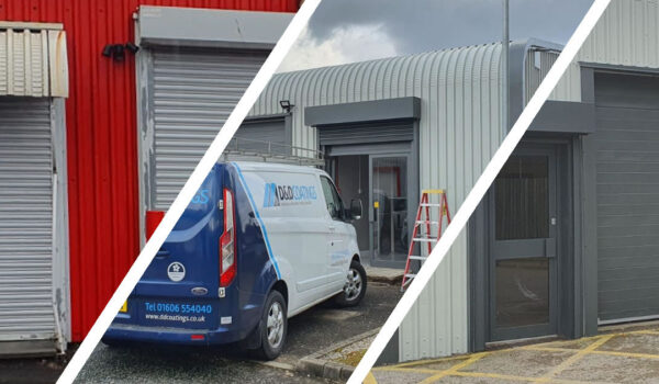 warrington industrial unit coating before during after